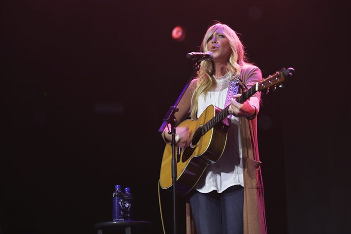 "Ellie Holcomb, a self-described ""recovering perfectionist,"" spent time on Sunday encouraging people they don't have to get their life together before coming to Christ."